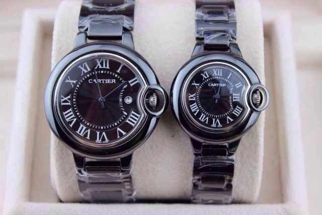 Replica Cartier Couple Watches Quartz Movement Ceramics Watch Belt .