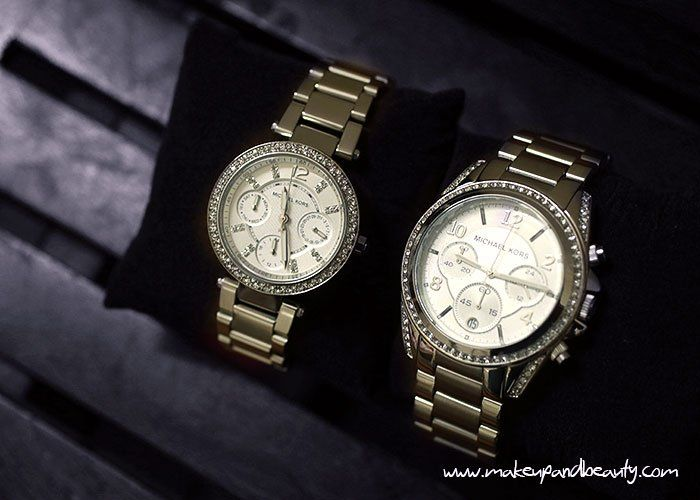 Gucci Lady Buckle Black Leather Bag and Michael Kors Watches .