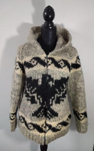Details about VTG 50's COWICHAN WOOL SWEATER NATIVE AMERICAN .