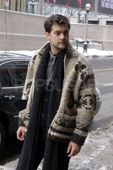 Joshua Jackson in Canada | Cowichan sweater, Sweaters, Men sweat