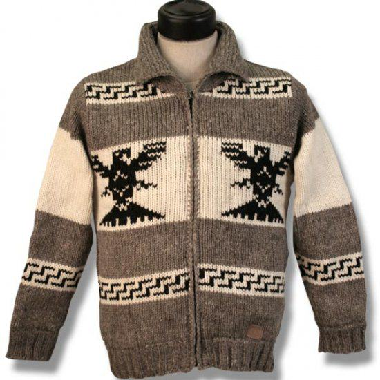 Cowichan Sweater Style Jacke