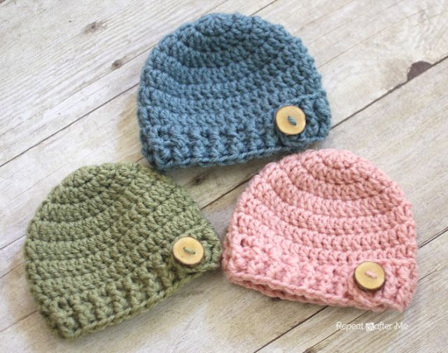 Crochet Baby Hats Repeat Crafter