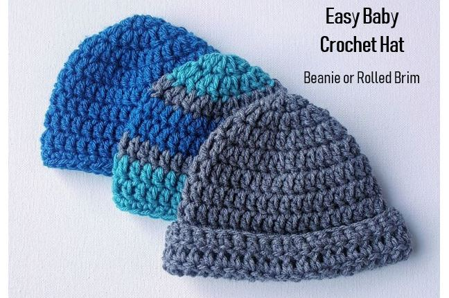 Easy Baby Crochet Hat Pattern for Beginners - JJCroch