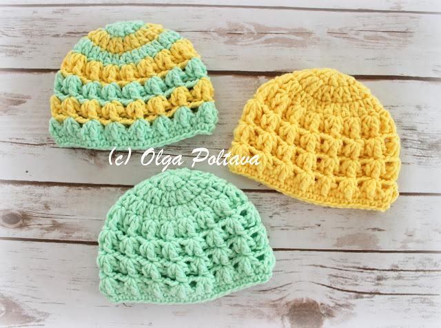 Lacy Crochet: Free Crochet Baby Hat Patter