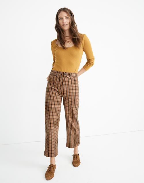 Slim Emmett Wide-Leg Crop Pants in Che