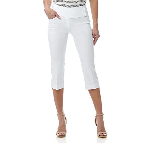 White Crop Pants: Amazon.c