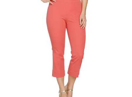 Isaac Mizrahi Live! 24/7 Stretch Regular Pull-On Crop Pants - Page .