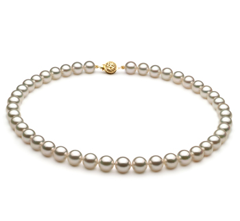 8.5-9mm AAA Quality Japanese Akoya Cultured Pearl Necklace in .