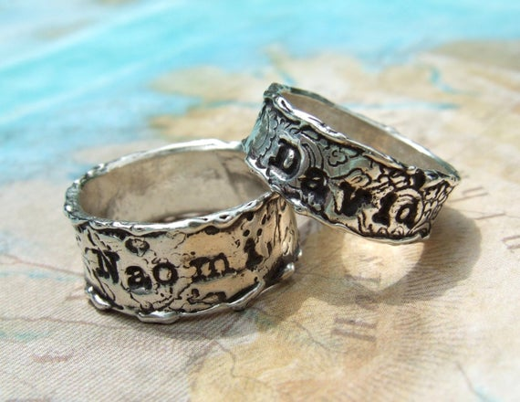 Custom Wedding Rings Personalized Wedding Bands Anniversary | Et