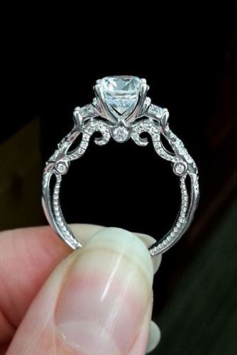Round Crown Halo Engagement Ring | Engagement rings affordable .