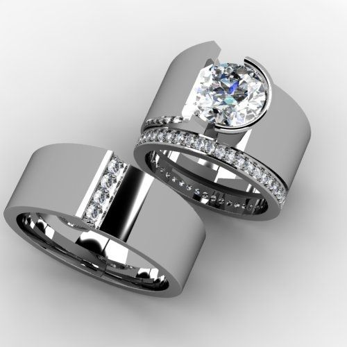 Custom Made Custom Wedding Band Set by Paul Michael Design .