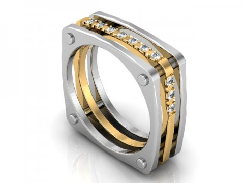 Shira Diamonds : Custom Mens Wedding Bands : Custom 2 Tone .