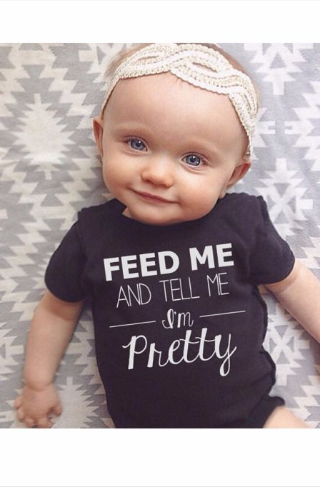 Is she not the cutest thing ever? Love this onsie! Great baby gift .