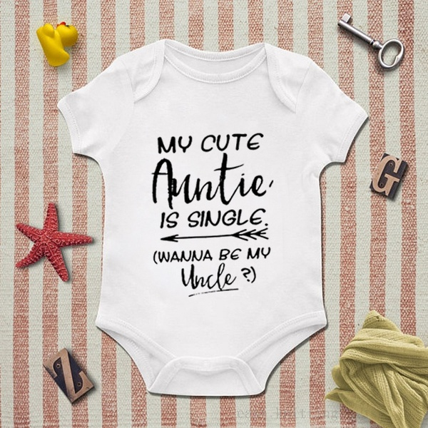 Aunt Gift Auntie Onesie My Cute Auntie Is Single Cute Baby Outfits .