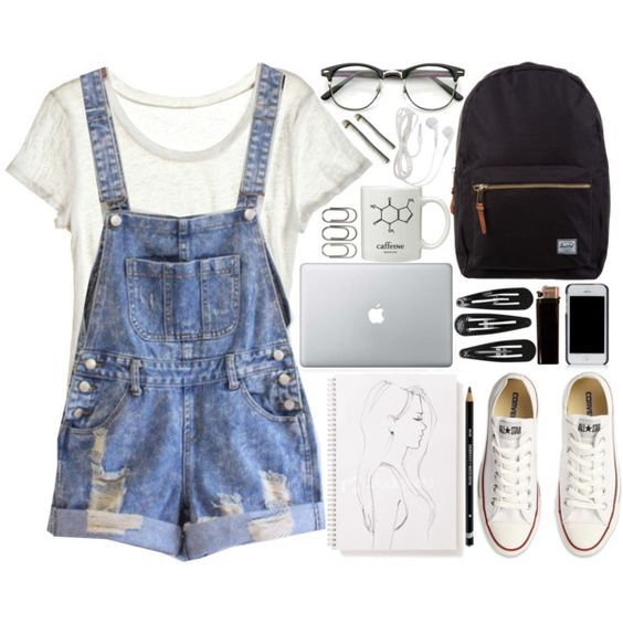 10 Adorable Outfits with Dungarees - Cute Outfits for Girls .