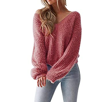 Amazon.com: Clearance Women's Pullover Sweaters Long Sleeve V Neck .