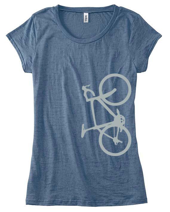 Women Bicycle Shirt, Custom Cycling Shirt, Hand Screen Printed .