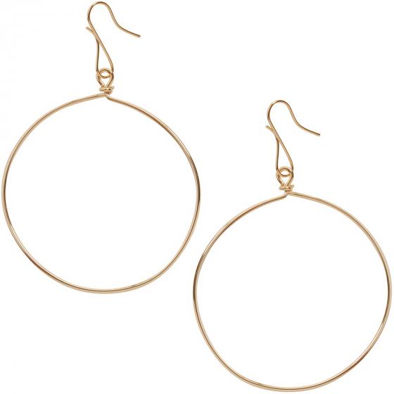 Circle Dangle Earrings - Hypoallergenic Geometric Thin Round Drop .