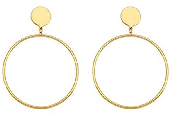 Amazon.com: Cyntan Hoop Dangling Earrings Simple Large Hoops .