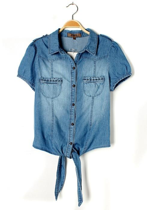 Tips of using denim blouse - StyleSkier.c
