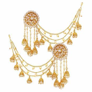 Designer Full Bahubali devsena Earrings Earcuffs Set - Charming .