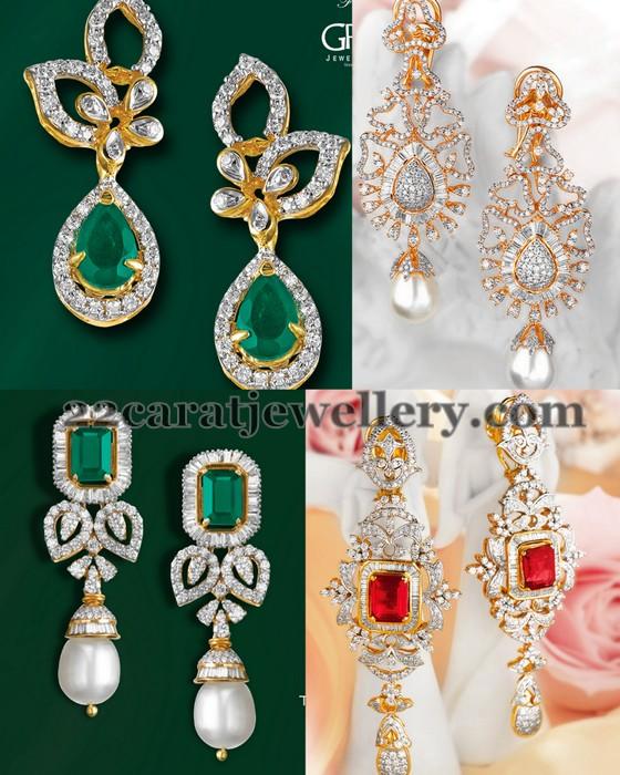 Latest Designer Diamond Earrings - Jewellery Desig