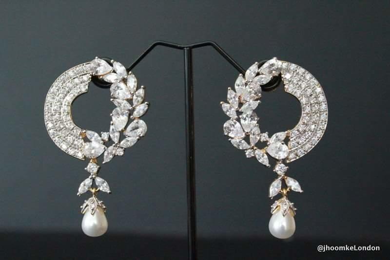 Beautiful designer earrings Big long earring | Earrings, Bridal .