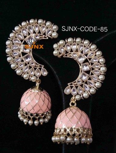 Satyam Jewellery Nx Pearl Jhumki Earrings Designer Jewellery, Size .