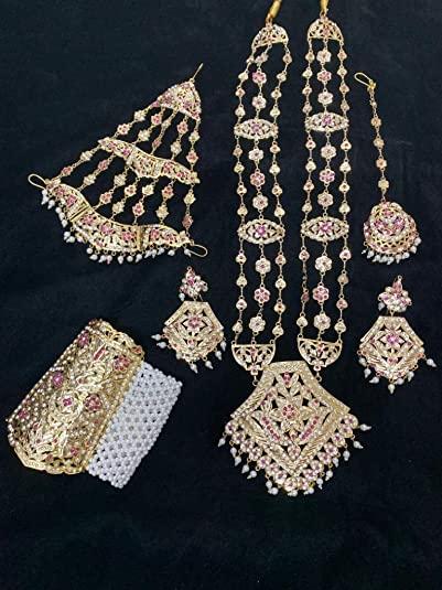 Buy Agaas Enterprises Designer Jewellery Gold Plated Full Bridal .