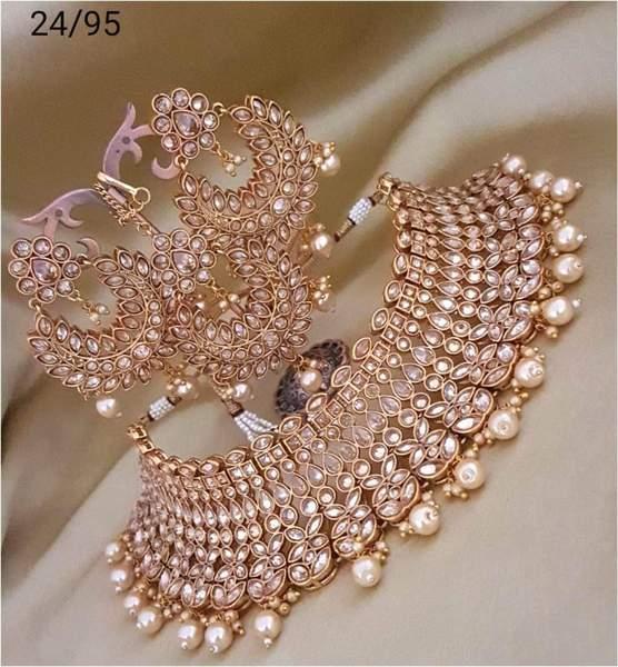 Kundan Choker Designer Jewelry Set – FashionVib