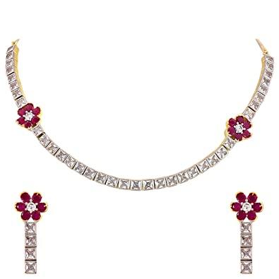 Buy Ratnavali Jewels American Diamond CZ Gold Plated Designer .