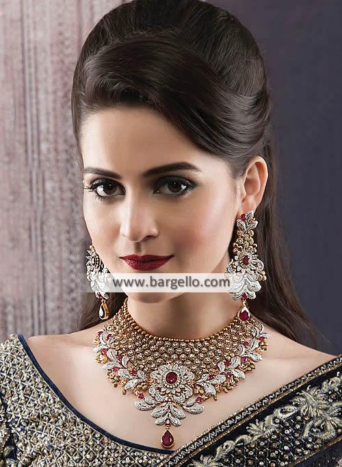 Imitation Ruby Gemstone Jewellery Sets Oslo Norway Pakistani .