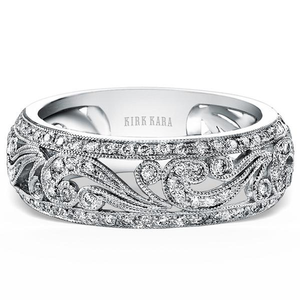 Kirk Kara Angelique Filigree Diamond Anniversary Ring | KF1010D-