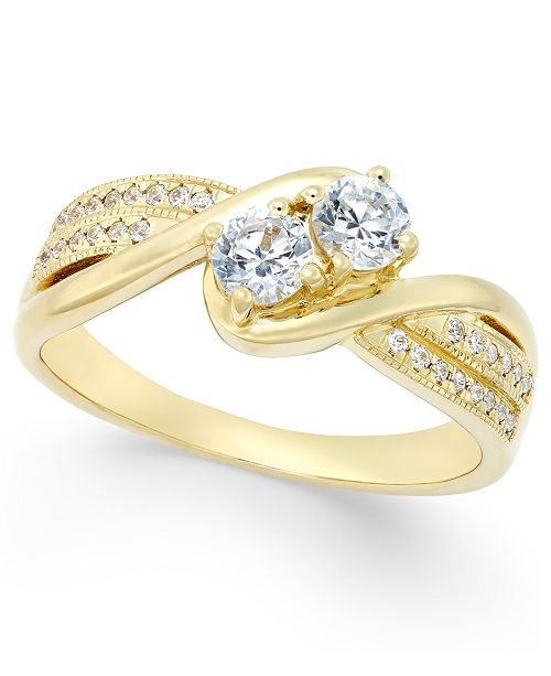 Macy's Two Souls, One Love® Diamond Anniversary Ring (1/2 ct. t.w. .