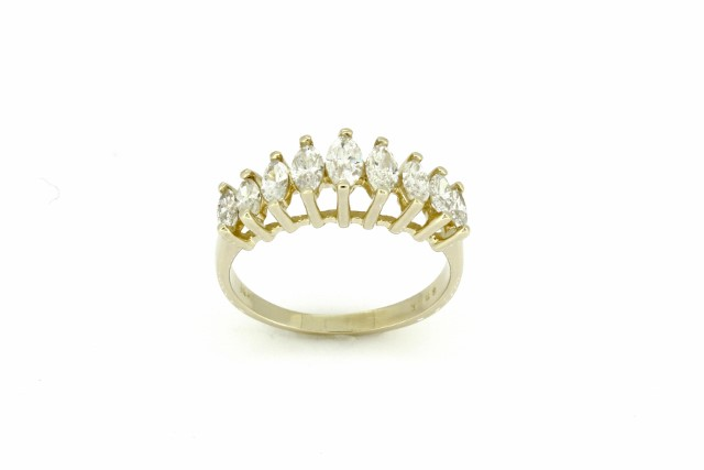 1 ctw Diamond Anniversary Ring in 14kt Yellow Gold – Haddad Jewele