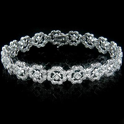 14k Gold Womens Diamond Bracelet 2.49