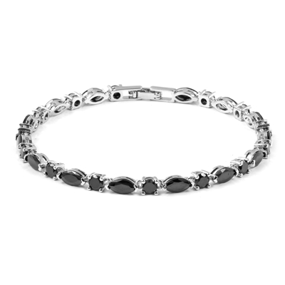 10.00 Carat Fancy Shape Black Diamond Bracelet 14k For Women