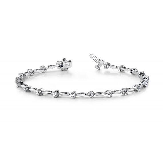 1 Carat Diamond Bracelet 14k White Gold Diamond Bracelets | Et