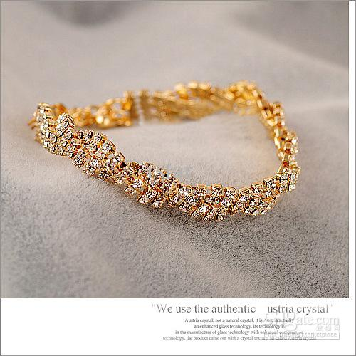 2020 Hot Sale Noble Full Diamond Bracelet All Match Fashion Women .