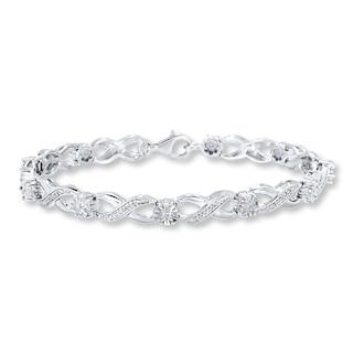 Diamond Bracelet 1/4 carat tw Sterling Silver | Womens Bracelets .