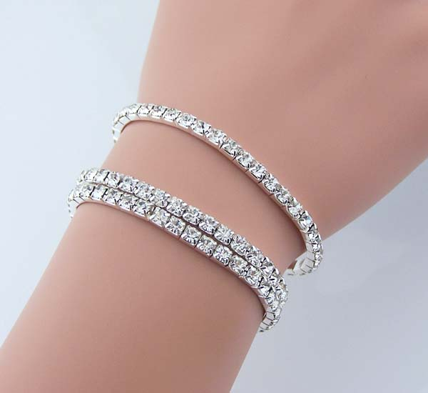 3 sets of Swarovski Artificial diamond bracelet Rhinestone jewelry .