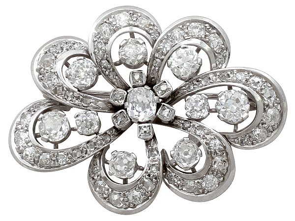 Edwardian Diamond Brooch | Antique Brooches | AC Silv