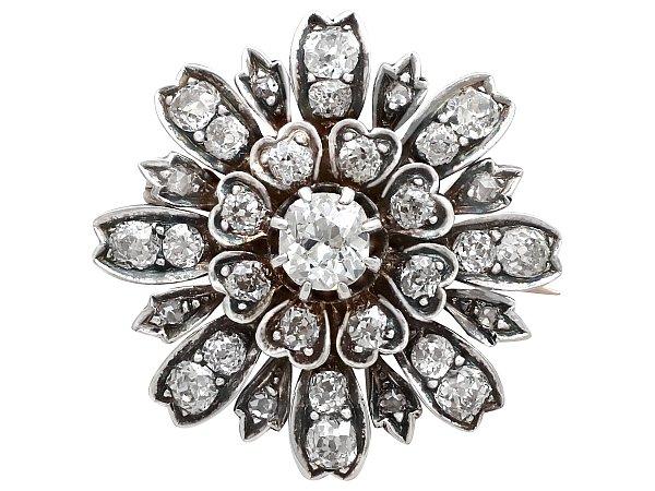 Victorian Diamond Brooch | Diamond Jewellery | AC Silv