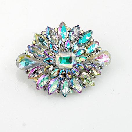 Diamond-brooch in AB Clear Col