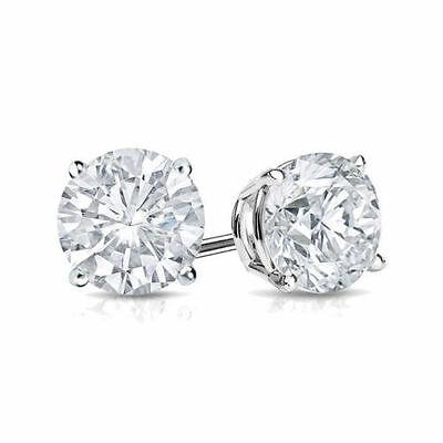 2Ct Diamond Stud Earring Womens Studs 14k White Gold Mens Earrings .