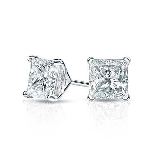 Amazon.com: Princess Cut Diamond Stud Earrings, Martini Studs .