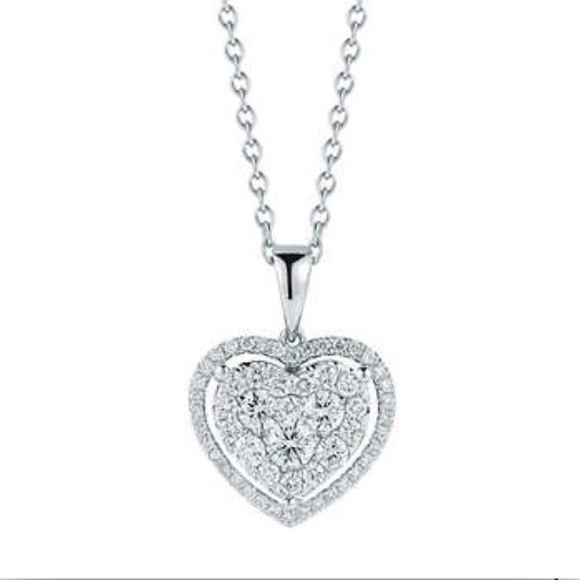 Costco Jewelry | Diamond Heart 14k Gold Pendant Wbox Receipt .