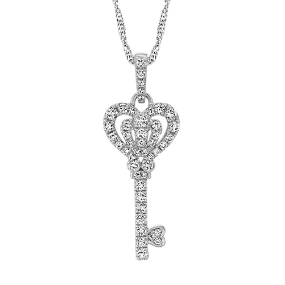 Diamond Heart Key Pendant (18 in) | Shane C