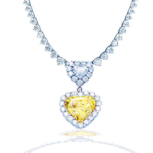 Important Yellow Diamond Heart Necklace. | Winston Crown Jewele