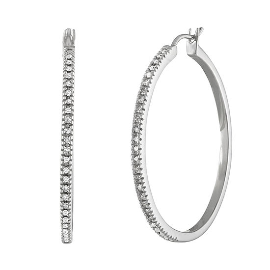 1/4 CT. T.W. Diamond Hoop Earrings - JCPenn